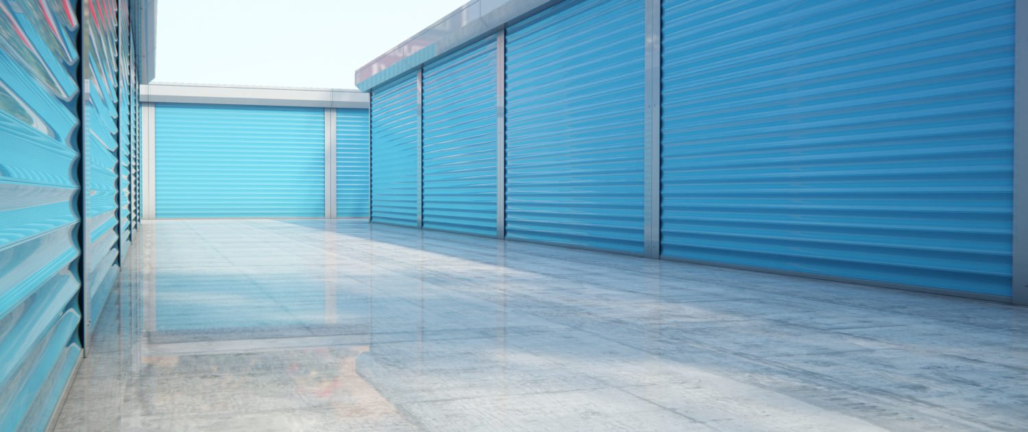 Picture showing outside accessible self storage units